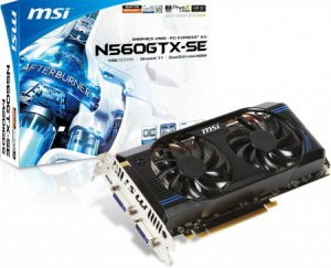MSI представила видеокарту GeForce GTX 560 SE OC